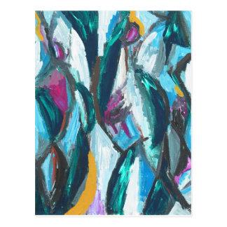 Carte Postale Grâces du résumé trois (expressionisme abstrait)