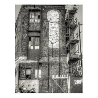 Carte Postale Graffiti d'homme de Stik, Shoreditch Londres