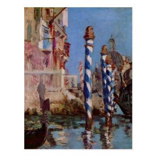 Carte Postale Grand canal à Venise - Edouard Manet