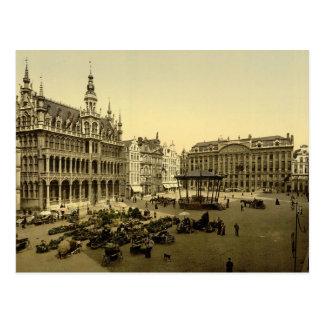 Carte Postale Grand endroit de La, Bruxelles, Belgique