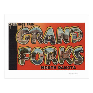 Carte Postale Grand Forks, le Dakota du Nord - grandes scènes de