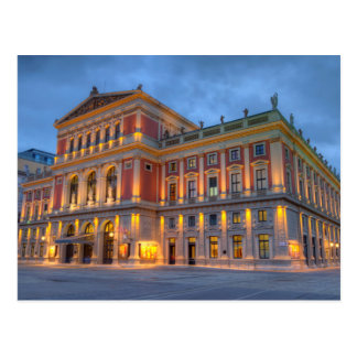 Carte Postale Grand hall de saucisse Musikverein, Vienne,