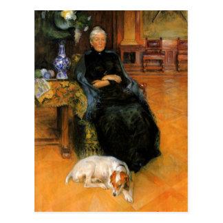 Carte Postale Grand-maman Gothilda avec le portrait de chien