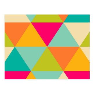 Carte Postale Grand motif coloré de triangle