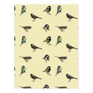 Carte Postale Grand motif de mésange