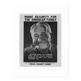 Carte Postale Grand-papa de sécurité sociale, les années 1930 -