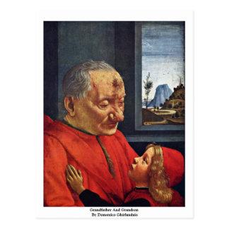 Carte Postale Grand-père et petit-fils par Domenico Ghirlandaio