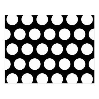 Carte Postale Grand pois noir et blanc