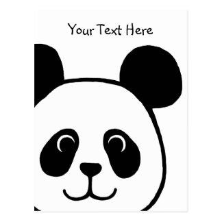 Carte Postale Grande bande dessinée de panda de visage