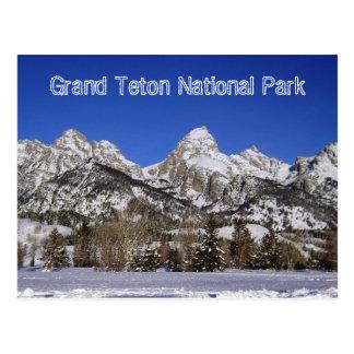 Carte postale grande de parc national de Teton