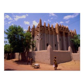 Carte Postale Grande mosquée, type architecture, Mopti de