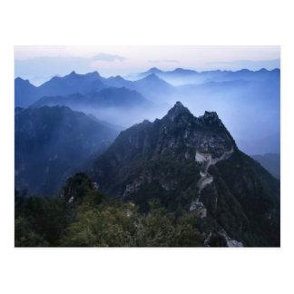 Carte Postale Grande Muraille en brume de début de la matinée,