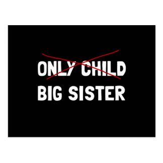 Carte Postale Grande soeur d'enfant unique