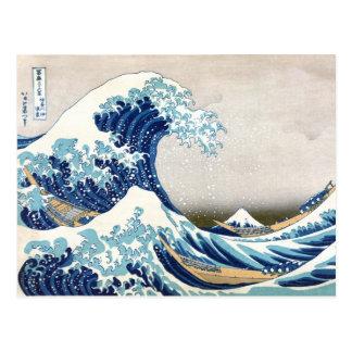 Carte Postale grande vague de 北斎 outre des beaux-arts de