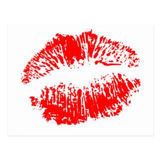 Carte Postale Grandes lèvres rouges