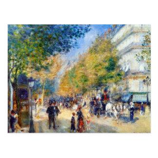 Carte Postale Grands Boulevards de Les par Renoir