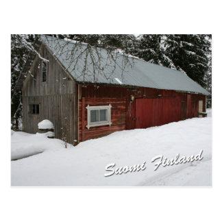 Carte Postale Grange d'hiver