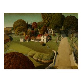 Carte Postale Grant Wood - le lieu de naissance de Herbert