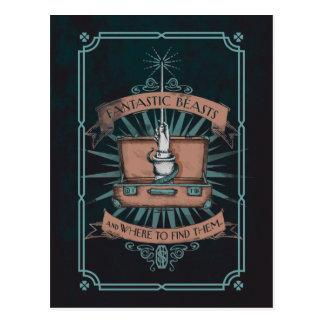 Carte Postale Graphique de la serviette du triton fantastique de