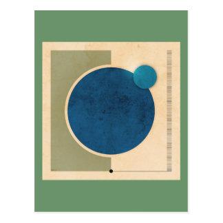 Carte Postale Graphique de la terre et de lune