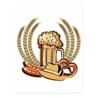 Carte Postale Graphique d'Oktoberfest de bière