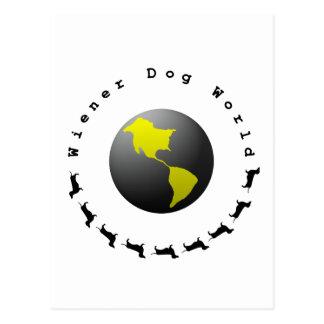 Carte Postale Graphique du monde de chien de saucisse