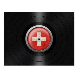 Carte Postale Graphique suisse d'album de disque vinyle de