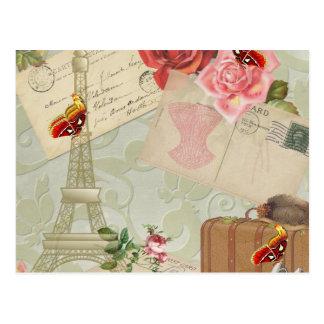 Carte Postale Graphiques vintages de Paris