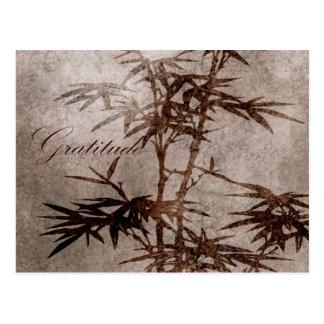Carte Postale Gratitude de bambou de zen