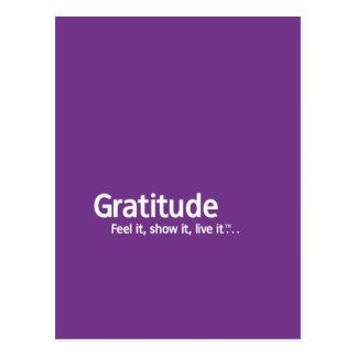 Carte Postale Gratitude - pensée Shapers™