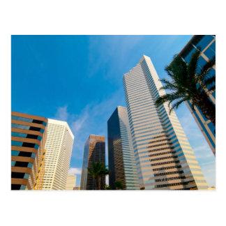 Carte Postale gratte-ciel du centre à Houston, le Texas,