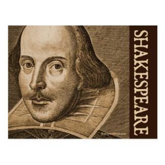 Carte Postale Gravures de Shakespeare Droeshout