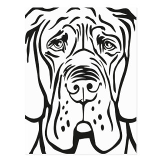 Carte Postale Great dane font face