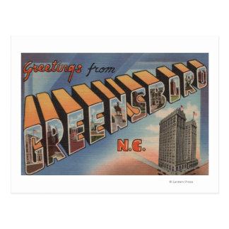 Carte Postale Greensboro, la Caroline du Nord - grandes scènes