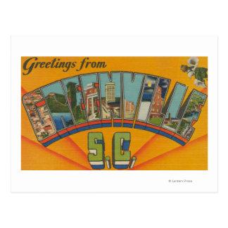 Carte Postale Greenville, la Caroline du Sud - grandes scènes de