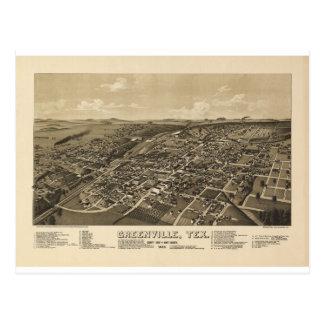 Carte Postale Greenville le Texas en 1886