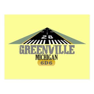 Carte Postale Greenville MI - Piste d'aéroport
