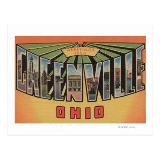 Carte Postale Greenville, Ohio - grandes scènes de lettre