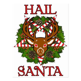 Carte Postale Grêle Père Noël