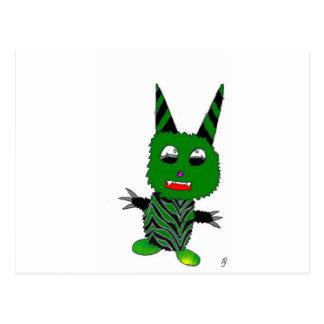 Carte Postale Gremlin vert