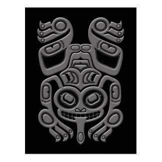 Carte Postale Grenouille d'arbre grise d'esprit de Haida sur le