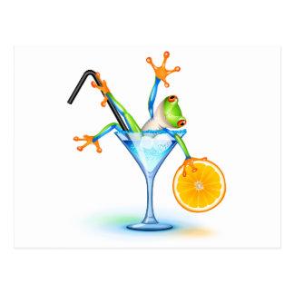 Carte Postale Grenouille de cocktail