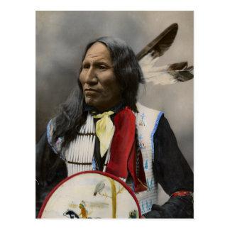 Carte Postale Grèves de chef avec le nez, Oglala Sioux 1899