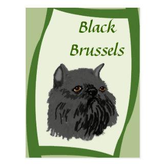 Carte Postale Griffon noir de Bruxelles