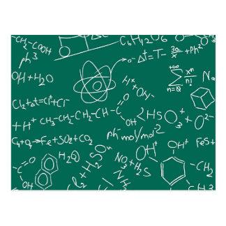 Carte Postale Griffonnages de chimie