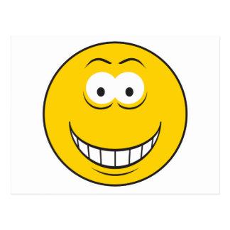 Carte Postale Grimacerie du visage souriant jaune