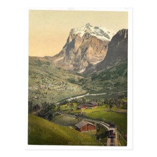 Carte Postale Grindelwald et bâti Wetterhorn, Bernese Oberland