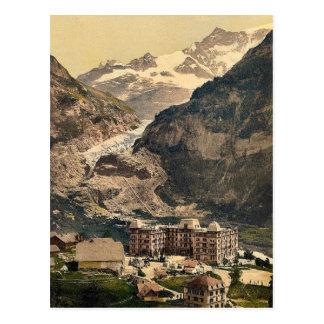 Carte Postale Grindelwald, hôtel d'ours et glacier, Bernese