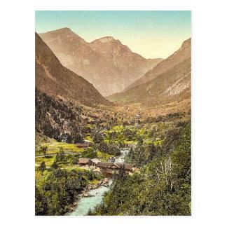 Carte Postale Grindelwald, route de Zwiellutschine, Bernese Obe