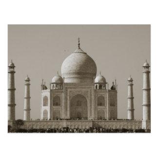 Carte Postale gris du Taj Mahal